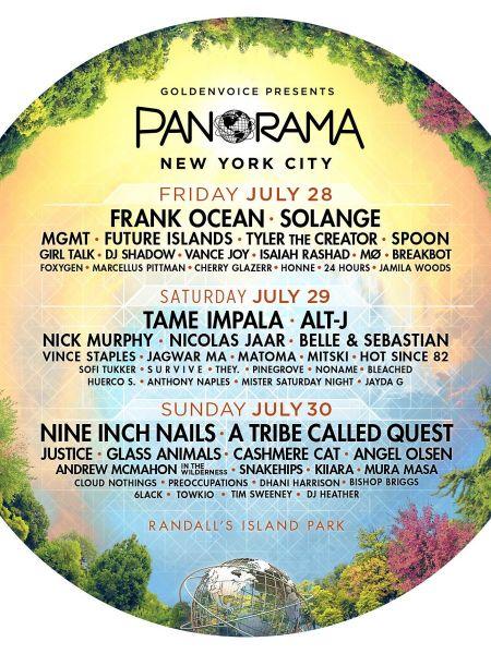 Panorama Festival reveals 2017 lineup starring Frank Ocean, NIN, Solange, Tame Impala