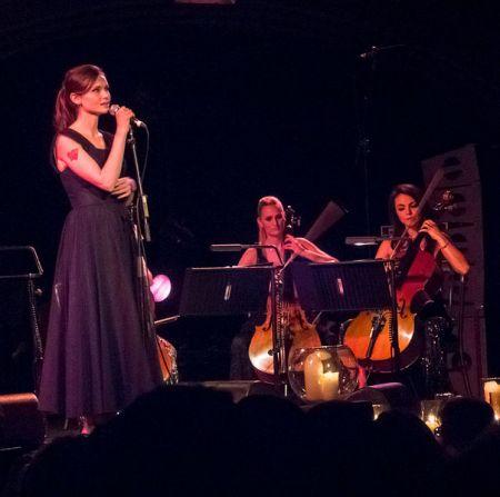 <p>Sophie Ellis Baxtor performing</p>
