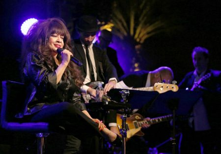 ANAHEIM, CA - JANUARY 21: Singer Ronnie Spector performs onstage during the 2017 NAMM Show at the Anaheim Convention Center.