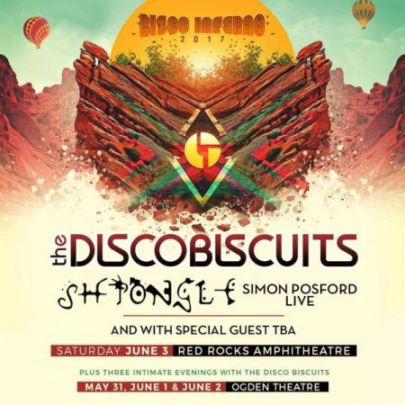 The Disco Biscuits will be playing the Ogden Theatre May 31-June 2 and Red Rocks on June 3