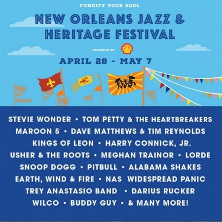 The New Orleans Jazz Fest takes place April 28-May 7