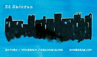 Ed Sheeran tickets at ERICSSON GLOBE/Stockholm Live in Stockholm