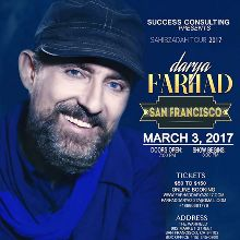 Farhad Darya - Rescheduled tickets at The Warfield in San Francisco