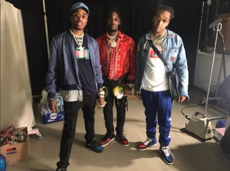 "Migos perfromed their #1 hit ""Bad and Boujee"" on ""Ellen."""