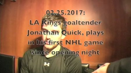 LA Kings goalie Jonathan Quick returns just in time