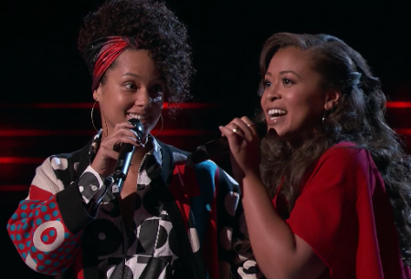 Watch Alicia Keys sing her classic hit 'Fallin'' with 'Voice' contestant Felicia Temple