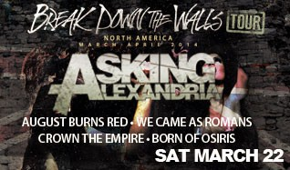 Asking Alexandria w/ August Burns Red, We Came As  ... tickets at Starland Ballroom in Sayreville