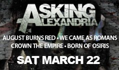 Asking Alexandria w/ August Burns Red, We Came As Romans tickets at Starland Ballroom in Sayreville