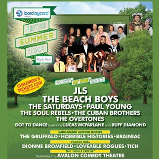 JLS, The Beach Boys, The Saturdays