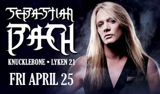 Sebastian Bach tickets at Starland Ballroom in Sayreville