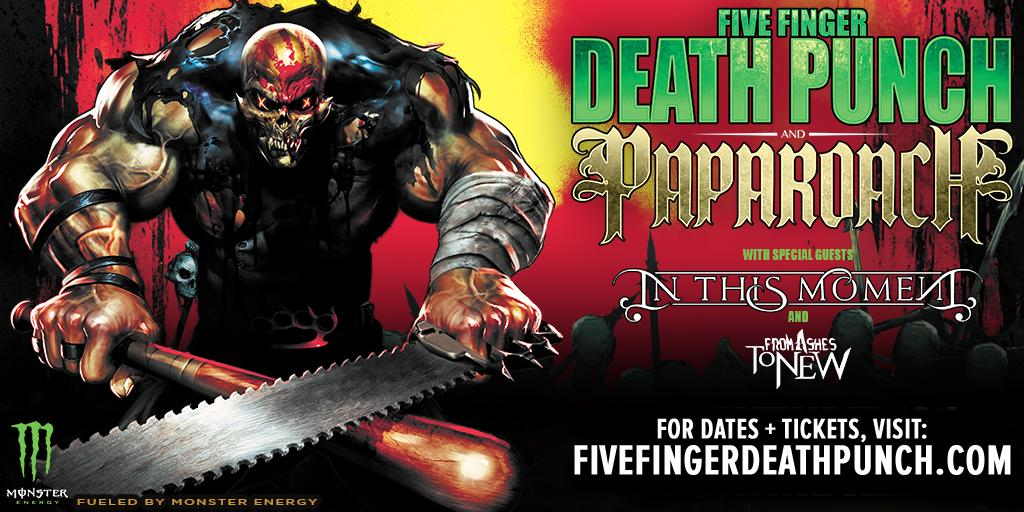 Five Finger Death Punch Us Tour : five finger death punch and papa roach announce co headlining tour axs ~ Russianpoet.info Haus und Dekorationen