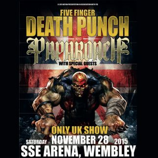 Five Finger Death Punch plus guests Papa Roach