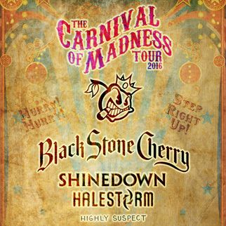 Black Stone Cherry, Shinedown and Halestorm - The Carnival of Madness Tour 2016