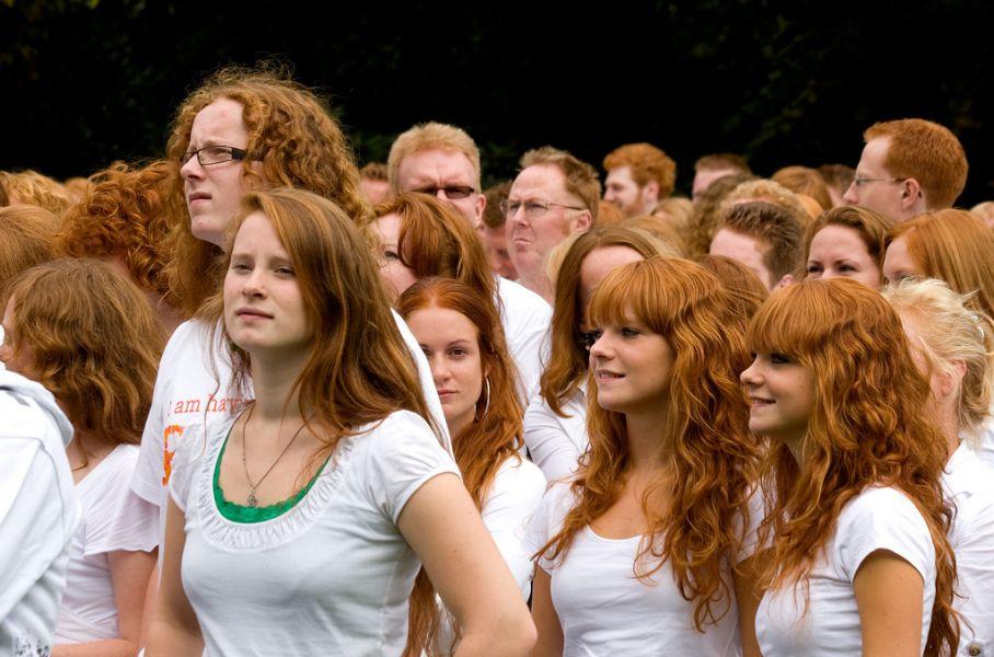 Redheaded lesbian twins