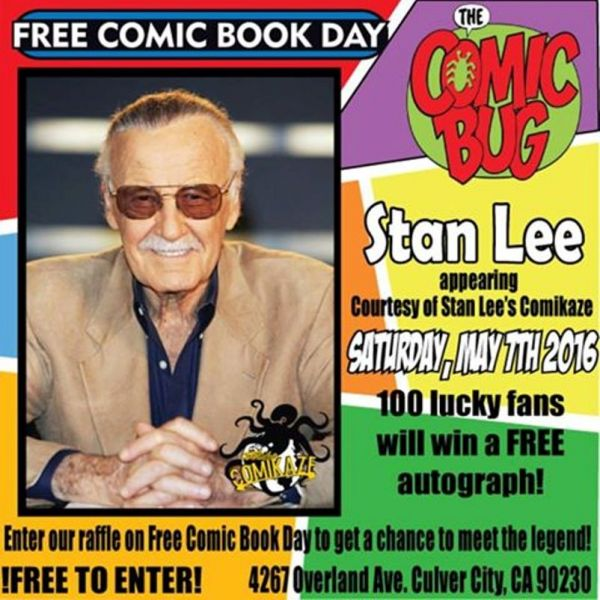 Free Comic Book Day Locations: Stan Lee Makes Going To The Comic Bug On Free Comic Book