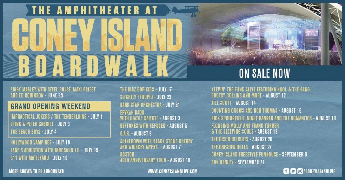 Coney Island Concerts  Schedule
