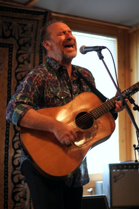 Colin Hay, of Men at Work fame, played a short half-hour set at the Compass Records Hillbillies and Hotdogs party, but it was enough to make